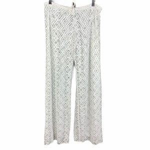 Becca Sheer Lace Pant Swim Cover Up White